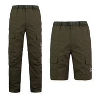 Wholesale 2015 Men s Outdoor Quick drying Pants Trousers Detachable Shorts Breathable