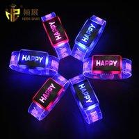 Wholesale LED flash bracelet luminous wrist band bracelet luminous hand ring luminous bracelet New Year s Eve