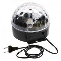 Wholesale 1pc W V LED RGB Crystal Magic Ball Effect Light Voice Control Disco DJ Stage Lighting EU Plug Hot Sale