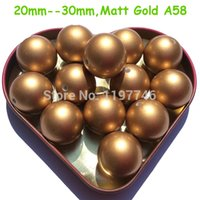 Wholesale ABSHUGE PEARL Beads Matt Gold mm mm mm mm Imitation Pearls Acrylic ABS Chunky Bubblegum Necklace Beads A58
