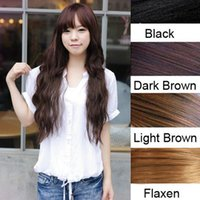 Wholesale quot Women Long Curly Wavy One Piece Clips In Hair Extensions Hairpiece Drop Shipping