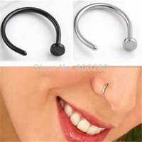 Wholesale Hot Stainless Steel Nose Open Hoop Ring Earring Body Piercing Jewelry Color Gold New