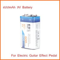 Wholesale EBL mAh V F22 Li ion Lithium ion Rechargeable Battery for Electric Guitar Effect Pedal Top Quality
