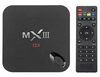 Cheap MXIII TV BOX Android 4.4 XBMC Amlogic S802 Quad Core 1GB 8GB Google 4K Android smart TV Box MX3 WIFI Media Player