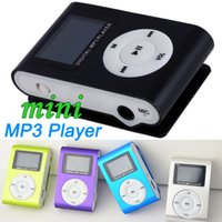 Wholesale DHL X Mini Clip MP3 Music Player With LED LCD Screen Support Micro TF SD Memory Card USB Cables Earphones With Crystal Retail Boxes MP31