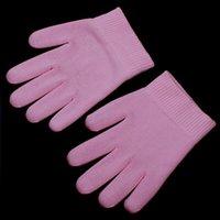Wholesale Pink Gel Gloves Moisturize Soften Repair Cracked Skin Moisturizing Treatment Gel Spa Glove order lt no track