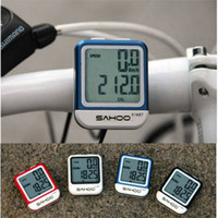 Wholesale New SAHOO Waterproof Main Function Bicycle Bike Computer Speedometer Cyclometer with Colors Choice