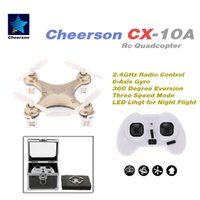 aluminum box channel - New Original Cheerson CX A CX10A G Axis Gyro RTF Mini Drone RC Quadcopter with Aluminum Box