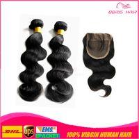 Cheap free part lace closure Best lace closure with body wave hair bundles