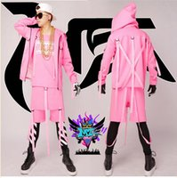 Wholesale Male singer fashionable nightclub in Europe and the runway looks orange pink hip hop party show costumes S xl