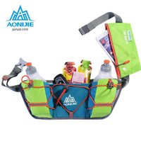 Wholesale AONIJIE Marathon Running Hydration Belts Backpack Male Lightweight Vest Rucksack Women Waist Packs Outdoor Close Fitting Pocket