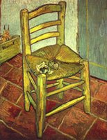 One Panel art van chairs - Landscape Art Vincent s Chair with His Pipe Vincent Van Gogh Painting Canvas Reproduction High quality Hand painted