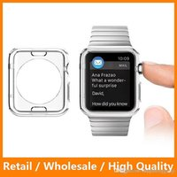 Wholesale For Apple Watch Case Ultra Thin Slim Clear Transparent Soft TPU Rubber Cover Skin for Apple Watch mm mm