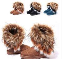 designer boots women - HOT Designer Brand New Women Autumn Winter Snow Boots Ankle Boots Warm Fur Shoes flat colors