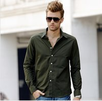 100% Linen oxford shirts - High end Five colors Men s Oxford shirts solid color fashion casual shirt long sleeve