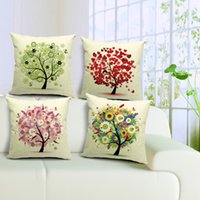 beautiful couches - Home Decorative beautiful Fresh Trees of Life Printing Cotton Linen Sofa couch car office Covers quot X18 quot