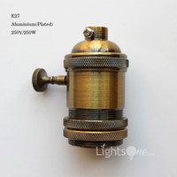 aluminum socket - Factory Loft Vintage Retro Plated Edison socket holder E27 UL V V Aluminium Lamp Base LB