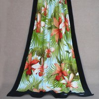 Wholesale Hot sale Cotton Reactive Print Sheared Towel Super Absorbent Beach Towel In Size cm