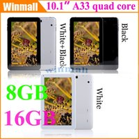 Wholesale 10 inch A33 Quad Core Tablet PC GB GB Bluetooth Android Dual Camera Wifi Inch capacitive screen by DHL