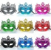 al por mayor traje de los hombres de holloween-Holloween Cosplay corona 20pcs / lot de la máscara del traje de la bola de luz Chapado Hombres Máscaras de Navidad de la alta calidad Hombre Mulity el color de la cara de ojos desgaste J604