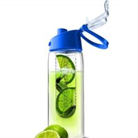 Wholesale Plastic New Portable Fruit Juice Kettle Outdoor Sport Drinking Water Bottle Lemon Juice Make Bottles ml H15241