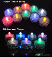 Wholesale Free shippig colourfull LED Tea light white bag Waterproof Candles tea Light Battery Operated Wedding Birthday Party Xmas Decoration