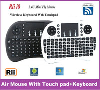 Wholesale Rii Mini I8 Air Mouse G Wireless Remote Control Touchpad Handheld Keyboard for MX III M8 CS918 MXQ TV BOX Tablet