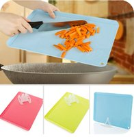 plastic board cutting board - New kitchen cutting board meat fruit chopping board colored chopping board set cooking tools plastic board cutting