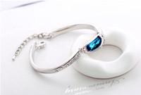 best designer jewelry - Designer Charm Bracelets bangles Best Rhinestone Crystal and Tin Alloys Women Accessories Jewelry Good Luck Charm Bracelet bangles B0004