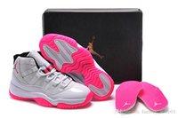 girls basketball shoes - Lady dan Basketball Shoes Womens Retros XI Hot Pink Basketball Shoe Girls Sports Shoes Grey Comfortable Trainers