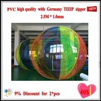 (Deportes acuáticos) Popular Water Walk WE-01 bola de PVC piscina 2.5M * 1.0M1.8 * 0.8 MM multifunción con Alemania TIZIP cremallera