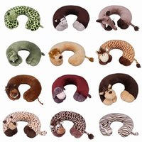 travel pillow - Novelty Plush Animal U Shape Pillow Outdoor Travel Rest Car Neck Pillow Office Pad Cushion Style Choose ZYP
