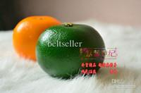 decorative fruit - Large Yellow green Orange Artificial Fruit Lifelike Fake Orange home Decorative fruit Plastic Artificial Fruits home wedding party supplies
