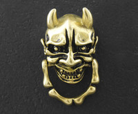 Wholesale Japanese Buddhism Prajna Ghost Biker Rock Leather Wallet Brass Chain Connector