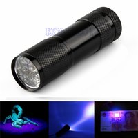 Cheap Portable LED Flash Flashlight Penlight 9 LEDs UV Purple Lights Lamp Linternas 450lm Lanterna Torch Lighting For Money Checking