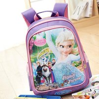 Wholesale Ice princess bag bags primary children in kindergarten grade two or three Korean cartoon white shoulder bag
