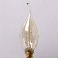 antique tail lights - E14 Edison Antique Vintage Classic Durable Saving Efficient Pull Tail Candle Light W V C35Ta Bulb