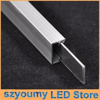 aluminum u channel - 1m m Rigid LED Strip Light Fixture U Channel Slot Light Bar Aluminum Profile Silver Color for