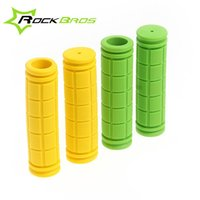 Wholesale RockBros Cycling Fixed Gear Fixie Grips MTB Mountain Bike Bicycle Handlebar Grips Soft Durable Rubber Cycle Parts Color A5