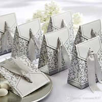 Wholesale Silver Wedding Favor Boxes Wedding Candy Box Casamento Wedding Favors And Gifts Event Party Supplies TY676