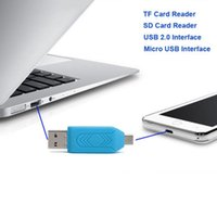 Wholesale Universal Micro USB SD Card Reader Micro USB OTG adapter for Android Mobile Phone USB Flash Drive TF Card Reader