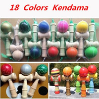 wooden ball - 18 Colors CM Kendama Ball Japanese Traditional Wood Game Toy Education Gifts Hot Sale DHL EMS Activity Gifts toys