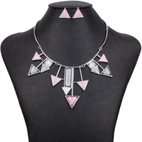 Wholesale New MS1504389Fashion Jewelry Sets Hight Quality Colors Necklace Sets For Women Jewelry Silver Plate Resin Unique Arrow Design Gifts