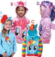 Wholesale DHL My little pony girl children zipper hooded Outwear Coat Girls Hoodies Sweatshirts kids Baby long sleeve hoody Jackets clothing