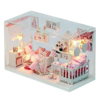 Wholesale DIY Dollhouse Dream Princess Room doll house for girl orom decoration toy