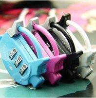 Wholesale new pig type printing combination lock Cartoon combination padlock alloy padlock luggage locks