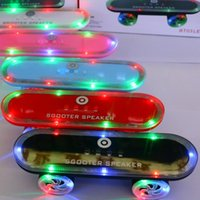 best laptop speakers for music - Best quality Scooter Speakers Bluetooth Wireless LED Flash Light Music Super Bass Mix Colors Speaker For Smart Phones Laptop DHL Free MIS124