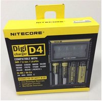 aa lithium charger - 2015 new version Nitecore D4 slot rechargeable Lithium LCD Display Battery Charger Digicharger For Li ion AA AAA Ni MH LiFePO4 DHL Free