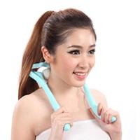 Wholesale Shoulder neck massager roller neck U manual lymph massage instrument household cervical shoulder massage ball clip neck