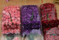 Cheap artificial rose flowers Mulberry Paper handmade Flower bundle wedding box decorative Wholesale 430pcs